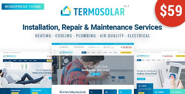 قالب Termosolar - قالب وردپرس خدمات تعمیر و نگهداری