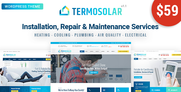 Termosolar - قالب وردپرس خدمات تعمیر و نگهداری