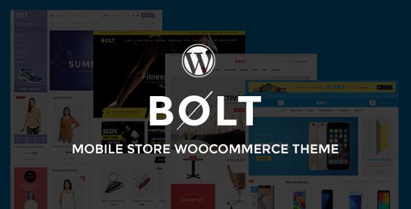 قالب Bolt - قالب وردپرس فروشگاه الکترونیک، مبلمان، سالن ورزش و مد