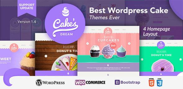 قالب Cake Dream - قالب فروشگاهی وردپرس