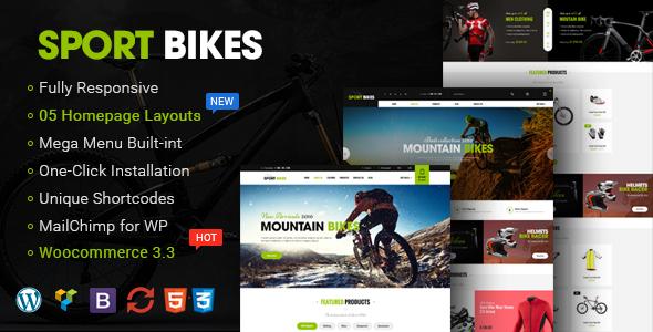 قالب Sportbikes - قالب فروشگاهی ورزش و تناسب اندام وردپرس