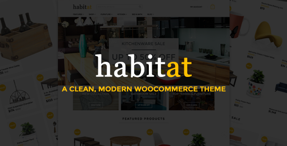 قالب Habitat - قالب ووکامرس چند منظوره