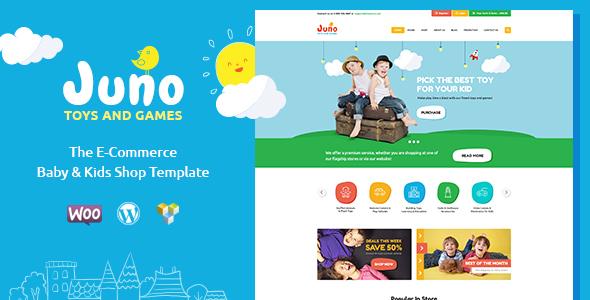 قالب Juno - قالب وردپرس فروشگاه اسباب بازی کودکان