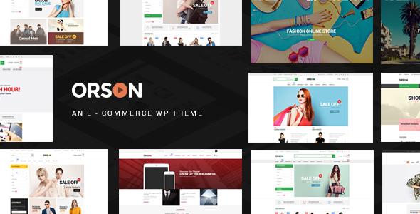 قالب Orson - قالب وردپرس تجارت الکترونیک و فروشگاه آنلاین