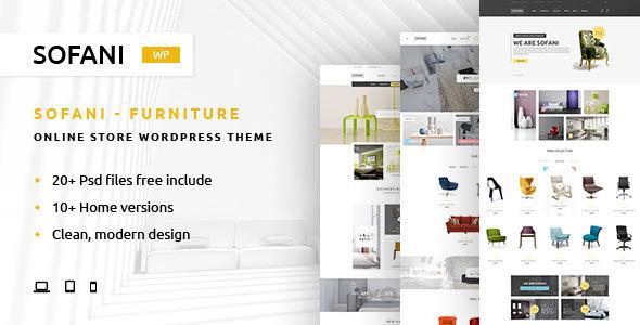 قالب Sofani - قالب وردپرس سایت نمایشگاه مبلمان