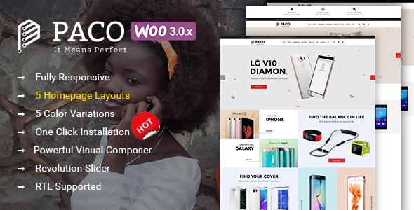 قالب Paco - قالب وردپرس فروشگاه دیجیتال