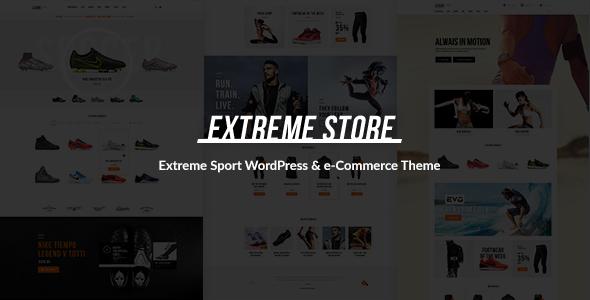 قالب Extreme - قالب وردپرس فروشگاه لباس و تجهیزات ورزشی