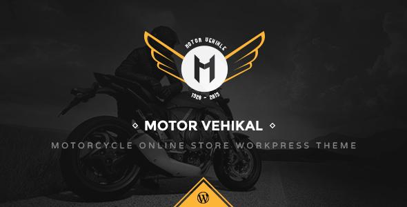 قالب Motor Vehikal - قالب وردپرس فروشگاه آنلاین موتور سیکلت