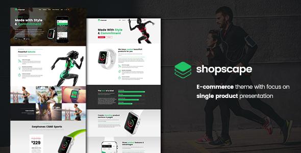 Shopscape - قالب وردپرس تک محصول