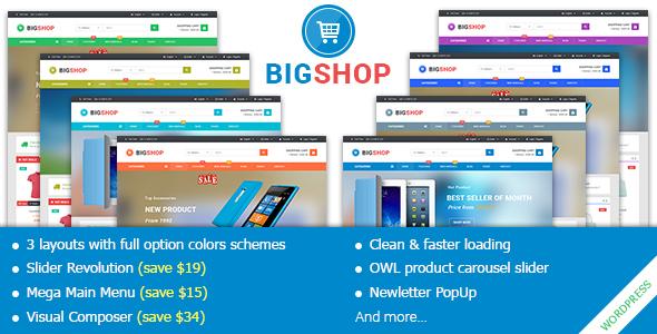 قالب BigShop - قالب فروشگاهی وردپرس چند منظوره