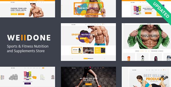 قالب Welldone - قالب وردپرس فروشگاه محصولات ورزشی