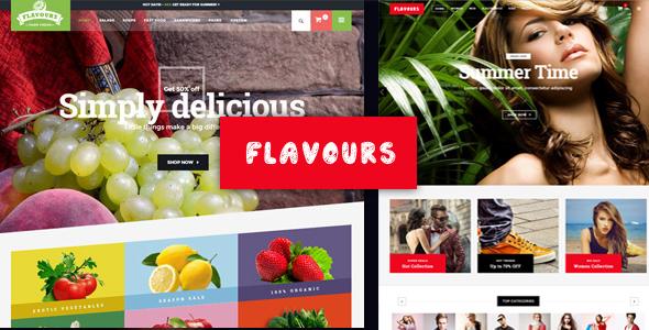 قالب Flavours Fruit Store - قالب سایت فروش محصولات اورگانیک