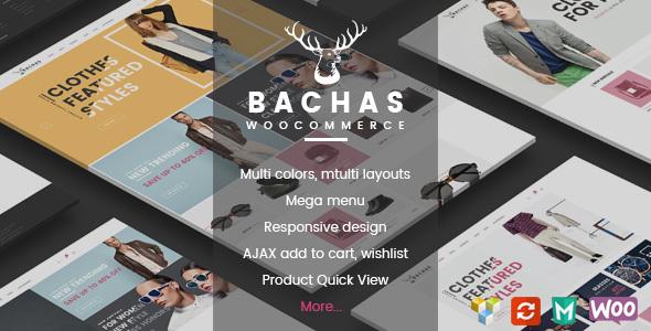 قالب Bachas - قالب وردپرس فروشگاهی
