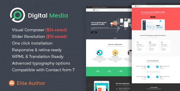 قالب Digital Media - قالب وردپرس فروش فایل