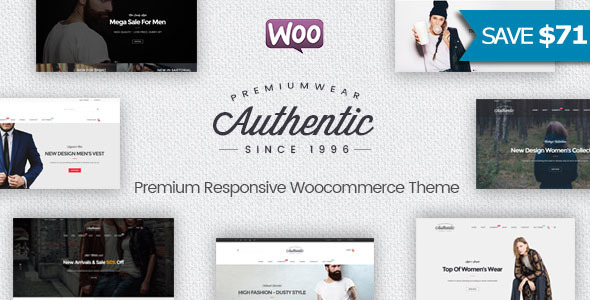 Authentic - قالب فروشگاهی وردپرس چند منظوره