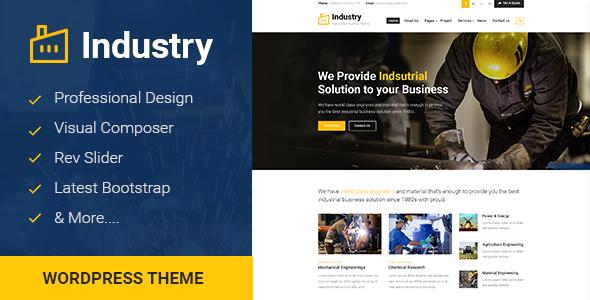 Industry - قالب وردپرس کارخانه و تجارت صنعتی