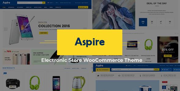 آسپایر | Aspire - پوسته حرفه ای وردپرس فروشگاهی