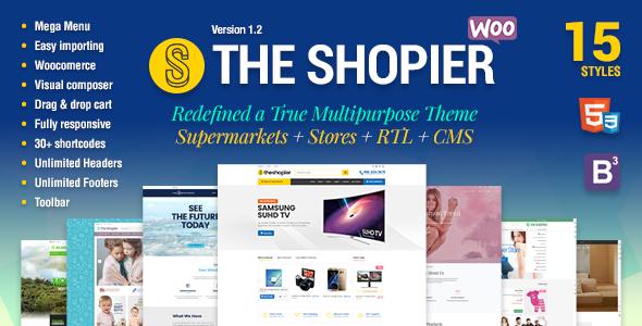 قالب Shopier - قالب فروشگاهی چند منظوره وردپرس