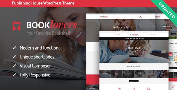قالب Booklovers - قلب وردپرس انتشارات و فروشگاه کتاب