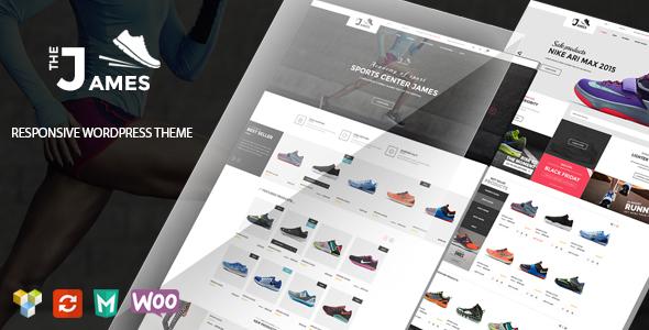 قالب James - قالب ووکامرس فروشگاه کفش
