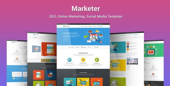 قالب Marketer - پوسته وردپرس سئو، بازاریابی آنلاین، شبکه های مجازی