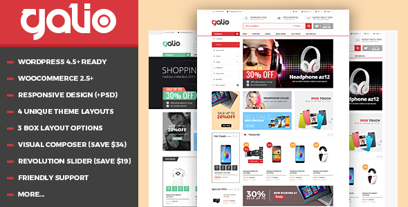 VG Galio - قالب فروشگاهی وردپرس