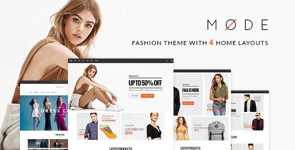 قالب Mode - قالب وردپرس فروشگاه مد