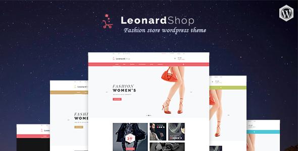 قالب Leonard Shop - قالب وردپرس فروشگاهی