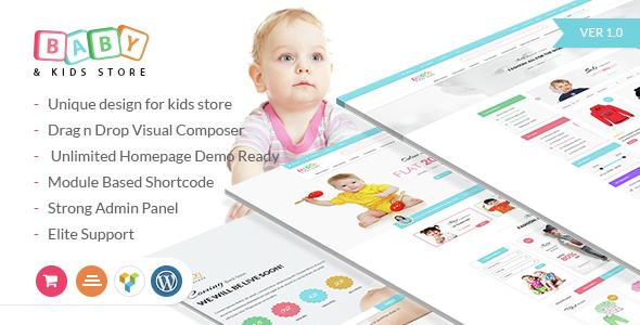قالب Baby & Kids Store - قالب وردپرس فروشگاهی