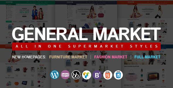 قالب WP General Mart eCommerce Websites - قالب ووکامرس حرفه ای