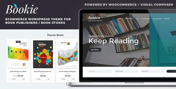 قالب Bookie - قالب وردپرس برای فروشگاه کتاب