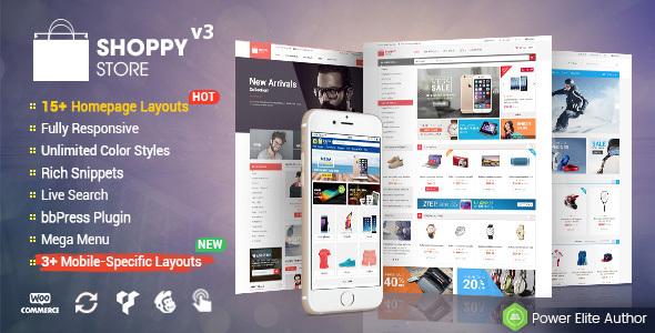 شاپی استور | ShoppyStore - قالب فروشگاهی ووکامرس