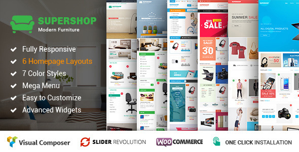 قالب Supershop - قالب سایت فروشگاهی ووکامرس
