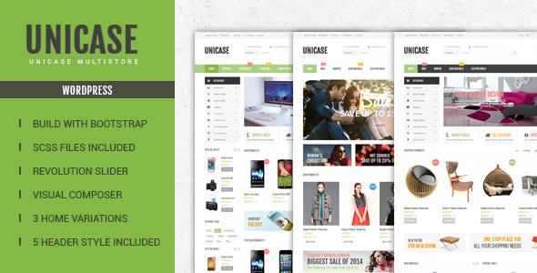 قالب Unicase - قالب فروشگاه الکترونیک وردپرس