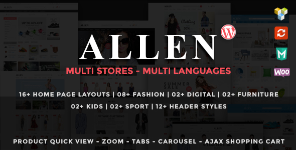 Allen - قالب فروشگاهی چند منظوره