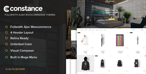 قالب Constance - قالب فروشگاهی تمام صفحه آژاکس