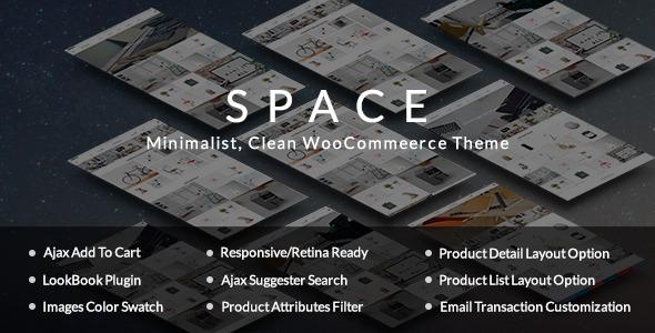 قالب Space - قالب فروشگاهی ساده و مینیمالیست