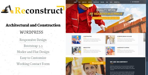 Reconstruct - قالب وردپرس ساخت و ساز
