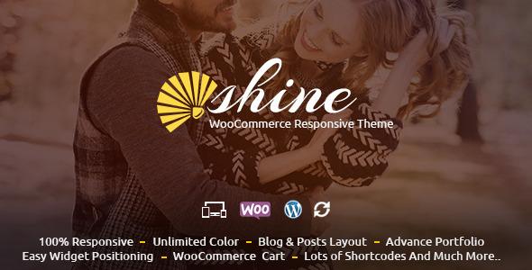 قالب Shine - قالب فروشگاهی وردپرس