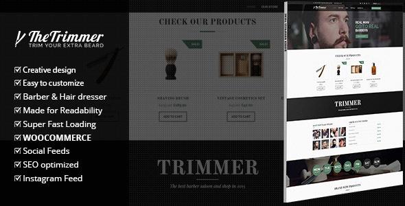 قالب Trimmer - قالب وردپرس برای آرایشگاه