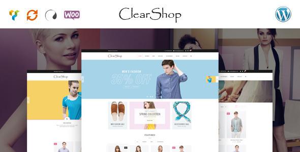 قالب Clear Shop - قالب فروشگاهی وردپرس