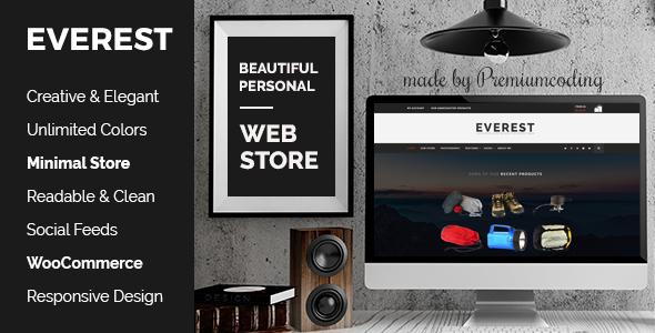 قالب Everest - قالب وردپرس فروشگاهی