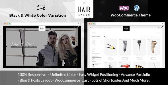 Hair Salon - قالب فروشگاهی وردپرس