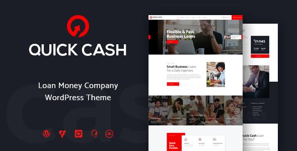 قالب Quick Cash - قالب وردپرس شرکت مالی و اعتباری