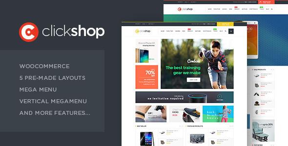قالب ClickShop - قالب وردپرس ووکامرس