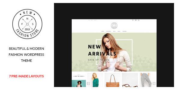 قالب NewFashion - قالب فروشگاهی مدرن برای وردپرس