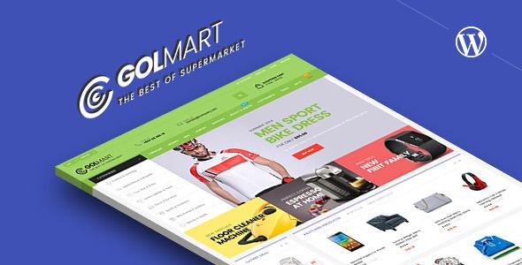 Golmart - قالب وردپرس فروشگاهی خلاقانه