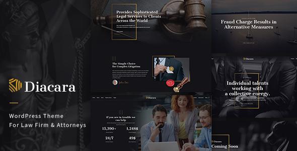 قالب Diacara - قالب وردپرس برای موسسات حقوقی و وکلا