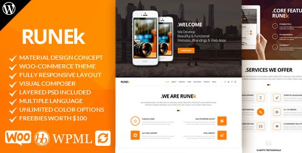 Runek - قالب وردپرس متریال دیزاین