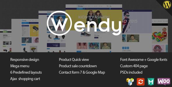 قالب Wendy - قالب فروشگاهی چند فروشگاهه
